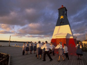 Acadian Lighthouse in Cheticamp